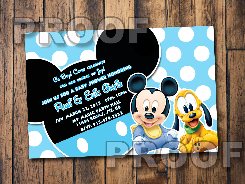 Baby Mickey Invitations - Best Printable Invitation Design Ideas by ...